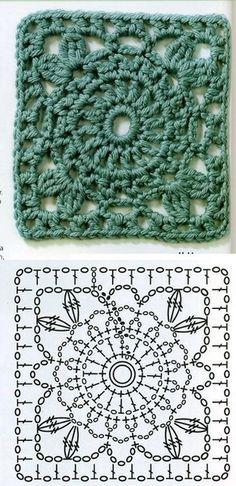 Delicadezas en crochet Gabriela: Patrones gratis cuadrados y muestras tejidas