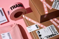Anagrama Studio on Behance Ecommerce Packaging, Brand Packaging, Box Packaging, Packaging Stickers, Custom Packaging, Clothing Packaging, Fashion Packaging, Jewellery Packaging, Fashion Branding