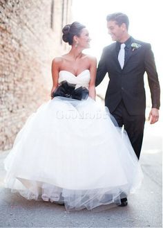 Robe de mariée de col en cœur fleurs traine avec manches jardin/en plein air - photo 3