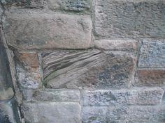 brick work and diagonal lines in brick