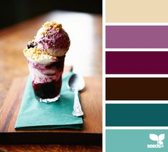 Color scheme inspired by food