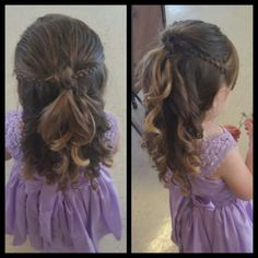 Toddler flower girl hairstyle