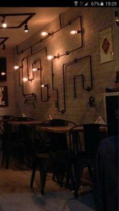 Iluminação do bar Cavalera em Botafogo