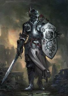 Fantasy Warrior, Fantasy Rpg, Medieval Fantasy, Fantasy Artwork, Dark Fantasy, Fantasy Samurai, Armadura Medieval, Character Inspiration, Character Art