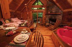 Gatlinburg Honeymoon Cabins in the Smokey Mountains of Tennessee