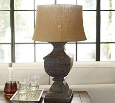 Architectural Salvage Square Urn Lamp Base #potterybarn