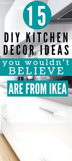IKEA kitchen hacks are the perfect solution if you want to save money redecorating your kitchen. These IKEA kitchen hacks are easy to DIY on a small budget! Create a stunning Scandinavian kitchen on the cheap! Diy Kitchen Decor, Ikea Kitchen, Kitchen Hacks, Ikea Hack Storage, Ikea Kallax Hack, Bathroom Hacks, Ikea Bathroom, Ikea Sinks, Ikea Decor