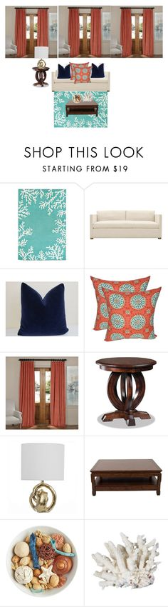 """Untitled #38"" by cierra-shaw ❤ liked on Polyvore featuring interior, interiors, interior design, home, home decor, interior decorating, Half Price Drapes, DutchCrafters, Ralph Lauren and Pier 1 Imports"