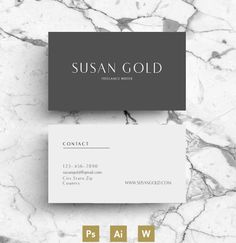 Business Card / Calling Card by Emily's ART Boutique on @creativemarket