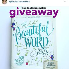 Don't forget to enter!!! And tag your friends and share!!!! Giveaway ends Sunday night and a winner will be chosen in Monday! If you know you want this bible and don't want to wait to see if you win then click the link in my profile!!! Happy reading y'all! #biblejournaling #biblejournalingcommunity #journalingbible #journalingbiblecommunity by apileofashesmakes