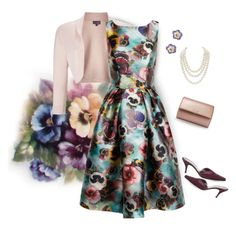 """🎼I went to a garden party...(outfit only)"" by grownuppaperdolls ❤ liked on Polyvore featuring art"