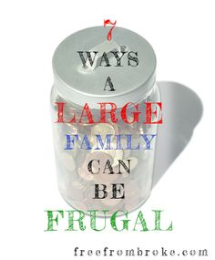 A large family can wreck your finances but it doesn't have to be that way. Here are 7 proven ways a large family can keep frugal. Large Family Organization, Family Organizer, Family Budget, Family Planning, Big Family, Family Life, Frugal Living Tips, Frugal Tips, Large Families On Purpose