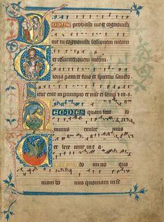Oster-Initialen aus dem Goldenen Graduale der Gisela von Kerssenbrock.