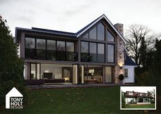 Tony Holt Design remodel of existing chalet bungalow into lodge style holiday home Building Design, Building A House, Bungalow Extensions, Bungalow Renovation, Bungalow House Design, Dream Home Design, The Ranch, Exterior Design, My House
