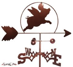 Weathervanes - SWEN Products FLYING PIG Weathervane >>> Check out this great product. (This is an Amazon affiliate link)