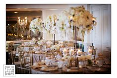 Champagne & white orchids