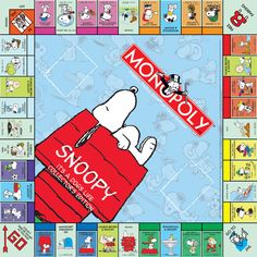 Okay Cassie, is this perfect for you, or what? Snoopy and Monopoly.two of your all time favorites! Peanuts Cartoon, Peanuts Snoopy, Snoopy Und Woodstock, Monopoly Game, Monopoly Board, Snoopy Quotes, Joe Cool, Snoopy Christmas, Peppermint Patties