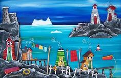 Check out the photos from Grumpy Goat Gallery. Sip N Paint, Bright Pictures, Painting Lessons, Newfoundland, House Painting, Goats, Whimsical, Painted Houses, Glass Houses