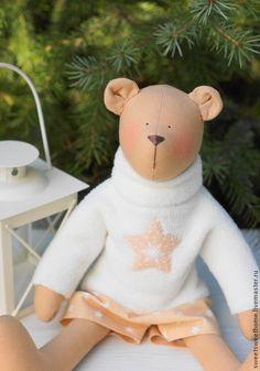 Куклы Тильды ручной работы. Ярмарка Мастеров - ручная работа Мишка тильда. Handmade.