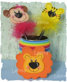 Leskka - eva Arte Kids Crafts, Diy And Crafts, General Crafts, Jungle Animals, Preschool Activities, Sunday School, Cool Kids, Card Stock, Projects To Try