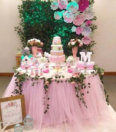 Tule Table Skirt Baby Shower Princess Party Bridal - Decoration For Home