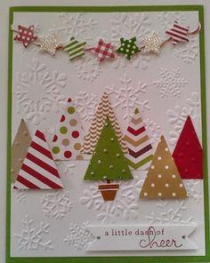 Christmas Card Crafts, Homemade Christmas Cards, Christmas Cards To Make, Christmas Greeting Cards, Christmas Greetings, Homemade Cards, Handmade Christmas, Xmas Cards Handmade, Scrapbook Christmas Cards