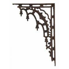 iron shelf brackets in decorative patterns from Museum Outlets Decorative Shelf Brackets, Wall Brackets, Iron Balcony, Balcony Railing, Home Projects, Home Crafts, Making Shelves, Iron Shelf, Outlets