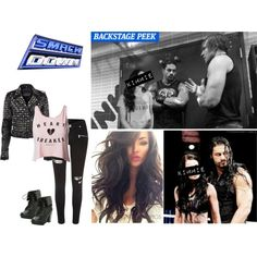 Smackdown: Kimmie Jackson Having A Backstage Segment With Roman And Dean, Then Accompanying Roman To His Tag Team Match With Dean. by alyssaclair-winchester on Polyvore featuring Club L, River Island, WWE, DeanAmbrose and RomanReigns