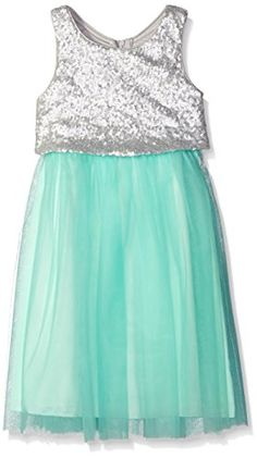 Emerald Sundae Big Girls Ballet Mesh Skirt and Sequin Pop…