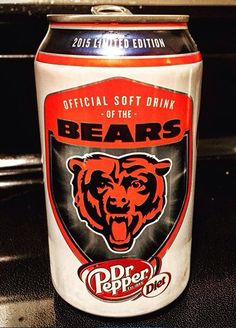 2015 Limited Edition Chicago Bears Dr. Pepper can