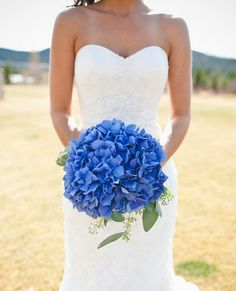 Deep blue wedding color palette. I've probably already re-pinned this but I love the color of these flowers!