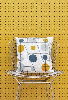 mini moderns - peggy wallpaper - mustard
