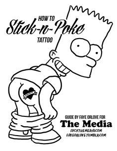 stick poke tattoos how to