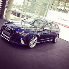 Blue #2014RS6 Audi RS6 Avant at Audi Forum Ingolstadt