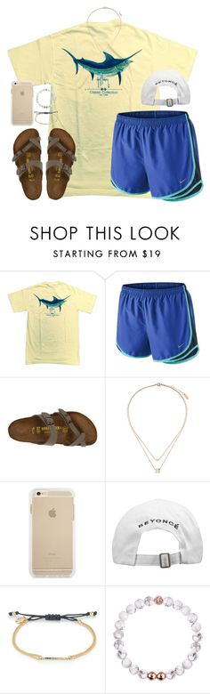 """""""be with someone who thanks God for you"""" by kaley-ii ❤ liked on Polyvore featuring Guy Harvey, NIKE, Birkenstock, Topshop and Stella & Dot"""