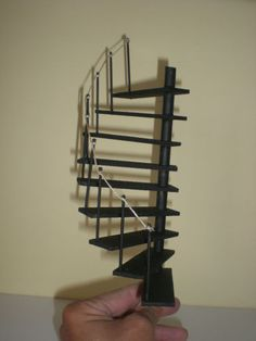Miniature Dolls House Spiral Staircase Dollshouse Stairs 1/12 Scale