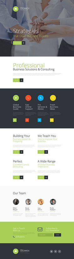 Template 57572 - Blowex Business  Responsive Landing Page Template