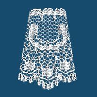 How to make ruffled lace - Lace Picture Tubes available a this site to use in this tutorial