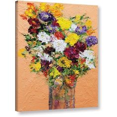 ArtWall Allan Friedlander Spring's Delight Gallery-wrapped Canvas, Size: 18 x 24, Red