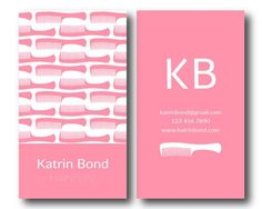 Salon Business Card, EPS Files, Hairstylist Business Cards, Hair Stylist Business Cards, Stylist Business Cards, Hair Business Cards