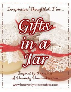 Gifts in a Jar eBook (FREE) - Our Gifts in a Jar eBook is now complete and ready for download!  This eBook is free for everyone and absolutely full of inexpensive and clever homemade gift ideas, sent in by HH readers!  This eBook includes wonderful gift ideas such as pudding mix, bath salts, diaper rash ointment, cookie mix, seasoning mixes, chai mix, soup mixes, facials, hot fudge and much more.
