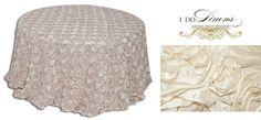 Champagne Ribbon Rose » I Do Linens