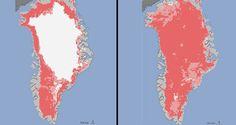 NASA - Satellites See Unprecedented Greenland Ice Sheet Surface Melt This Year! #NASA #globalwarming #satellite