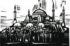 Hagia Sophia royalty-free stock vector art