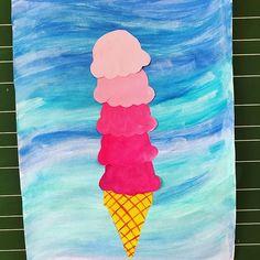 Auch im Kunstunterricht gibts Eis passend zum Sommer ... ☀️ #Kunst #Grundschule #lehrerin #lehrerleben #lehreralltag #lehrerliebe #kunstunterricht #grundschullehrerin #grundschulleben #unterrichtsmaterial #likeiceinthesunshine