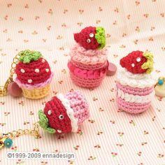Miniature Amigurumi Cake keychain #crochet