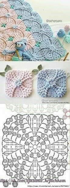 Transcendent Crochet a Solid Granny Square Ideas. Inconceivable Crochet a Solid Granny Square Ideas. Point Granny Au Crochet, Granny Square Crochet Pattern, Crochet Diagram, Crochet Chart, Crochet Squares, Crochet Baby, Free Crochet, Crochet Pillow, Kids Crochet
