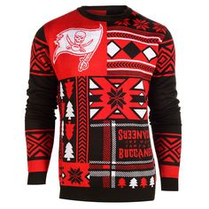Tampa Bay Buccaneers Patches Ugly Crew Neck Sweater from UglyTeams