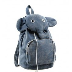 b3364b0318c7 Fashion Cartoon Elephant Cute Canvas Backpack for only  23.99