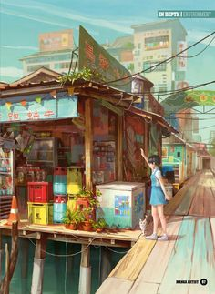 from ImagineFX Bookazine 25 (Sampler) Fantasy Landscape, Landscape Art, Fantasy Art, Anime Places, Environment Concept Art, Anime Scenery, Scenery Wallpaper, Environmental Art, Art Background